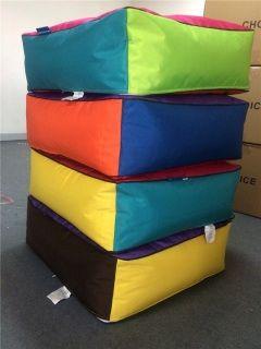A pop of Colour 78 x78 x 25 bean bag cushion cover.