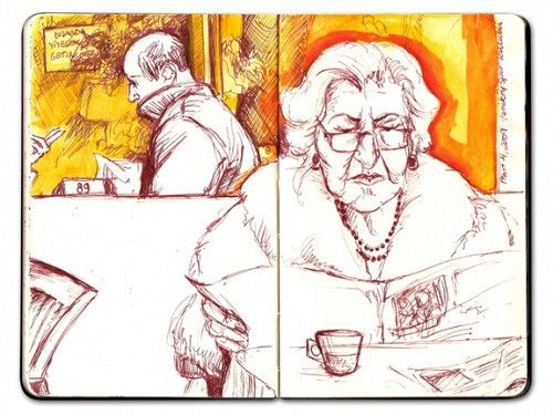 Moleskine Art - Ilustración de Szaza #moleskine #moleskineart #moleskinart #dibujo #sketch #cuaderno