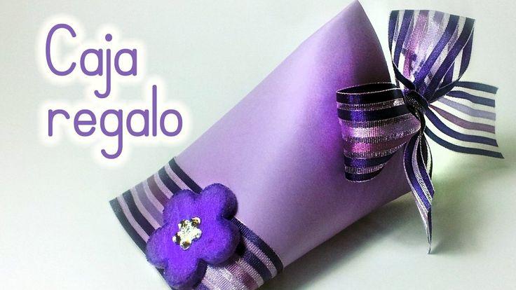 Cajita para regalo reciclando un rollo de papel higiénico | Aprender manualidades es facilisimo.com