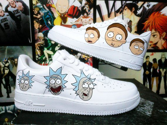 hot products nice shoes run shoes Custom Nike Air Force one, rick and morty,custom sneakers ...
