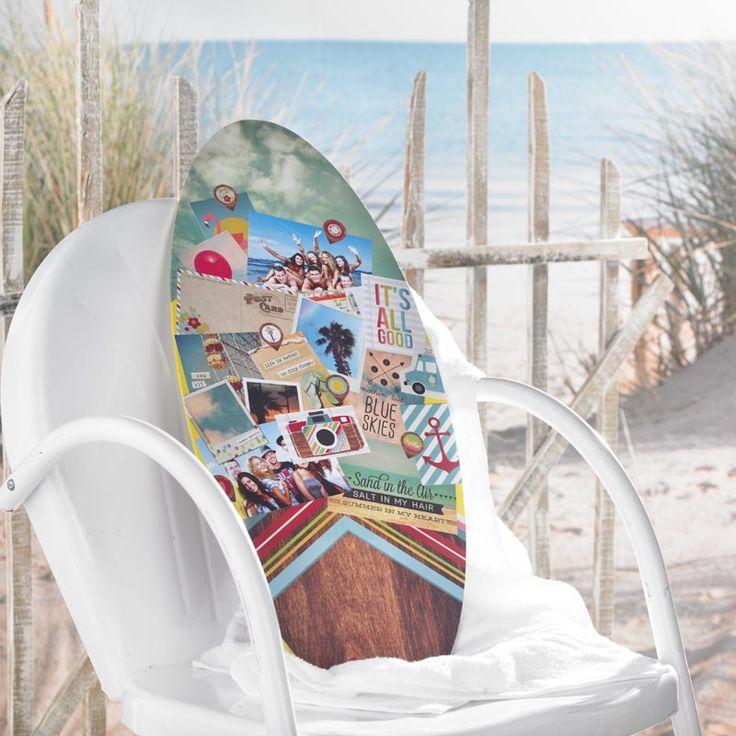 Decoupage - Summer Memories Surfboard Craft Idea