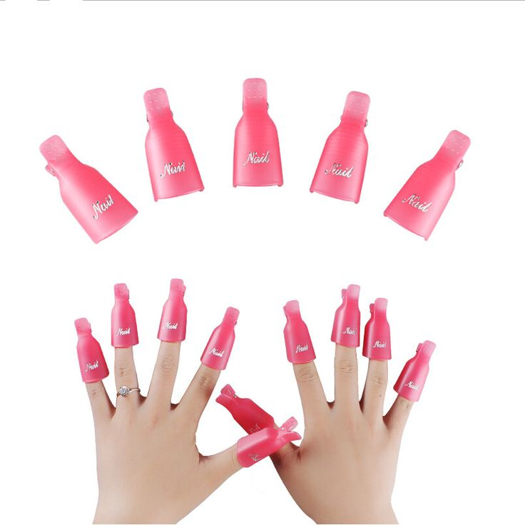 high quality New 10PC Plastic Nail Art Soak Off Cap Clip UV Gel Polish Remover Wrap Tool