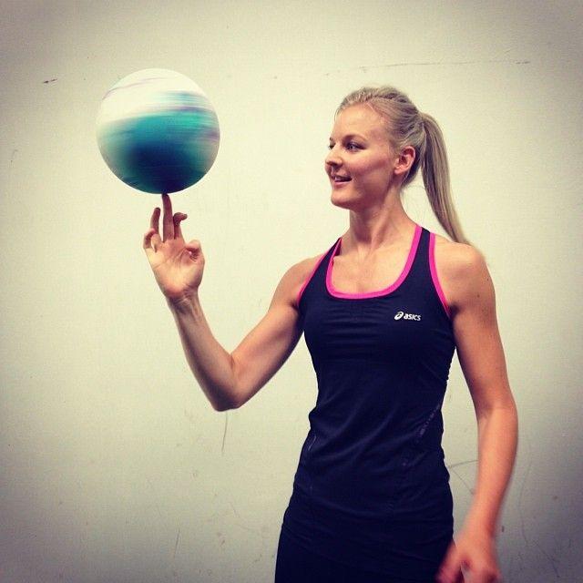 Very talented Katrina Grant at the Asics photo shoot #KatrinaGrant #Asics #LoveNetball