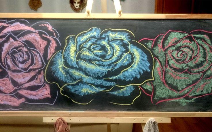 Контрастные розы