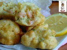 Le frittelline di gamberetti sono un antipasto di mare,veloce e semplice da preparare,ideale anche per un aperitivo sfizioso.  Ingredienti per 4 pers