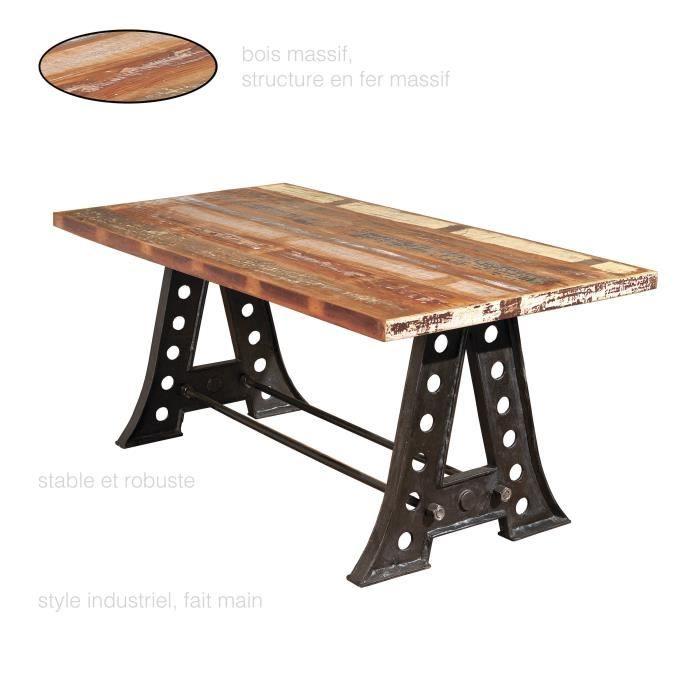 table a manger vintage en bois massif