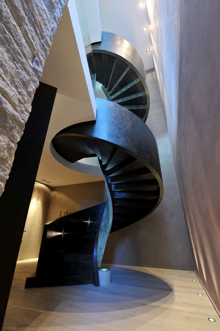 Alternating tread stair revit home design ideas - Villa Lugano Por Angelo Pozzoli 21