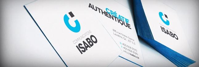 Carte de visite Communications Isabo