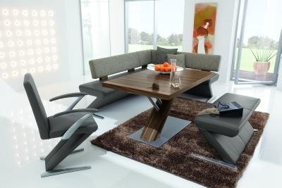Eetkamerbanken eetbanken leder en stof met bijpassende eetkamer tafels