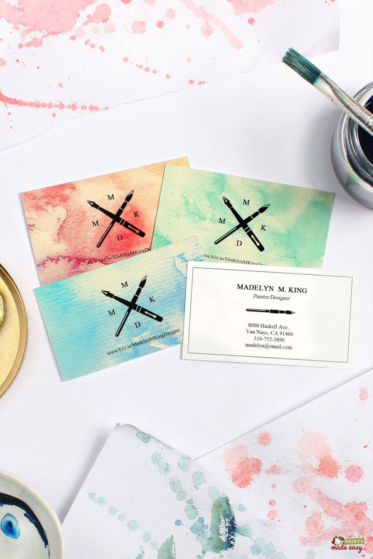 128 best business card inspiration images on pinterest business use a monotone design on your painter business cards for a simple and professional looking magicingreecefo Image collections