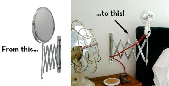 DIY accordion-style wall sconce - total cost is less than $10 a light ...