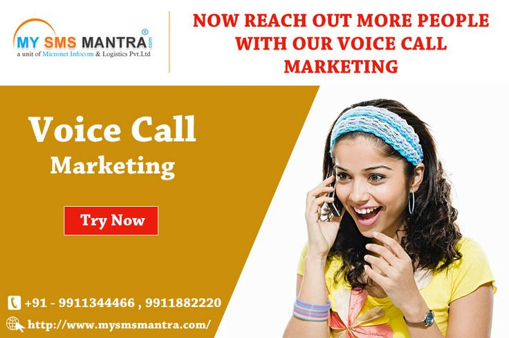 we help you promote your brand to thousands of target audience at one go through our personalized Voice Message Service. # https://goo.gl/bwBvf