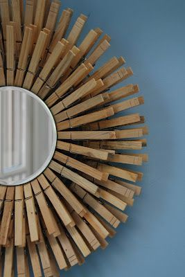 clothespin sunburst ....I think this spray painted in glossy white would look kinda cool// I love this! and good idea in painting it white...