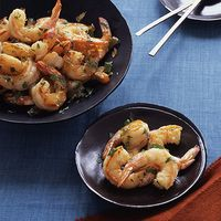 Nice surprise: This actually has only 4 ingredients!  // Ginger-Glazed Shrimp, @Every Day Rachael Ray, 5-ingredient meals