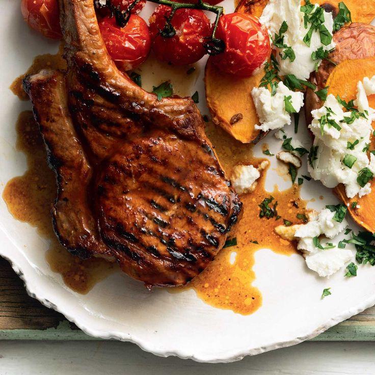 BBQ Pork With Sweet Potato Bruschetta