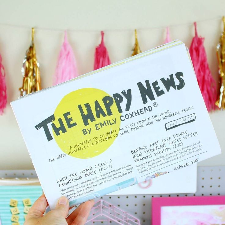 On the way to London today with a copy of @thehappynewspaper for the train. If you don't follow @emilycoxhead and her positive brand you really should. She's releasing a book soon too! What's on the agenda for your Thursday?