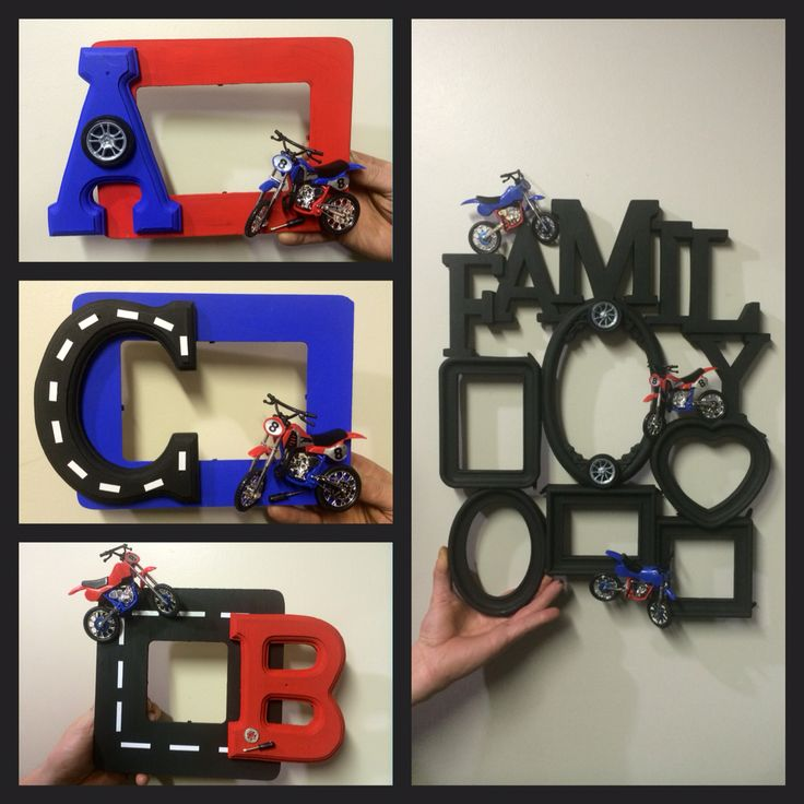 Boys Room - Motorcycle Picture Frames