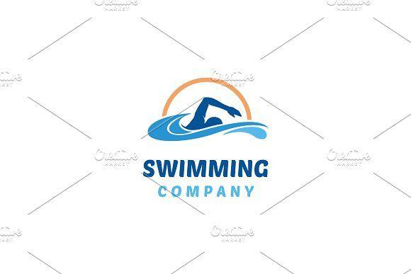 Water Swim Swimming Pool Logo Logo Design Logos Logo Templates