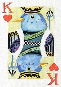 have each student create a card. Idea for high school art lesson.