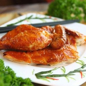 Куриные крылышки в глазури с грейпфрутом