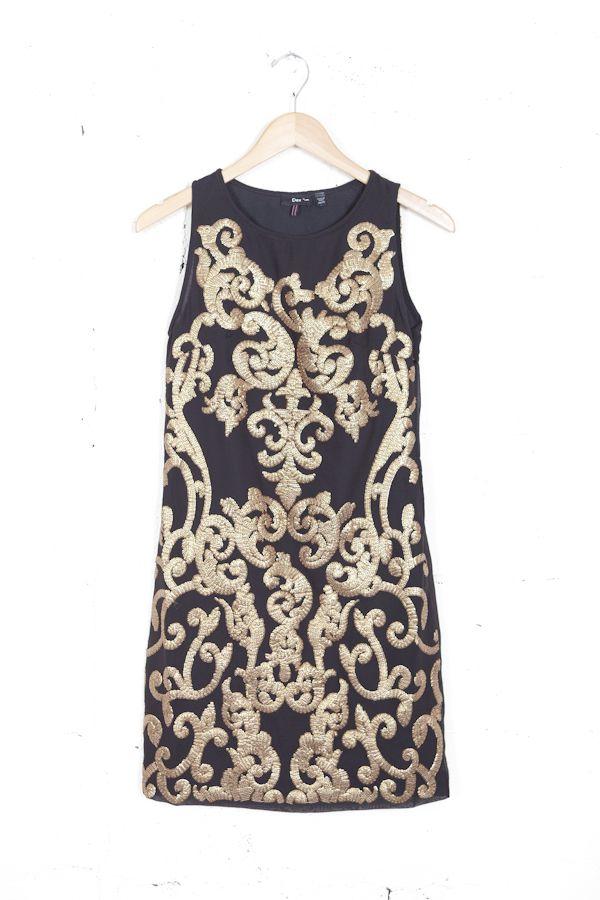 Baroque Sequin Dress   Parc Boutique