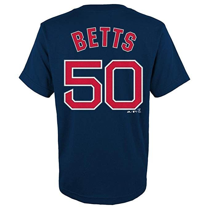 cc1fb5035 reduced mookie betts youth boston red sox navy name and number jersey t  shirt x large