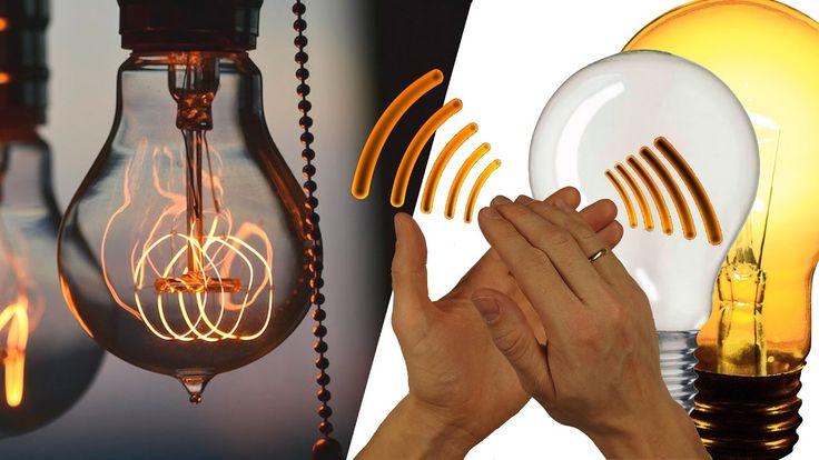 Ретро лампа Эдисона.  Лампочка с датчиком звука.