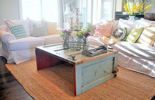 журнальный столик своими руками из старой двери