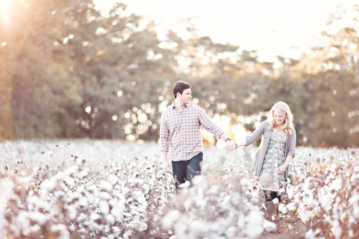 Vintage Engagement Photography – cotton field part2 » Vintage Wedding Photography