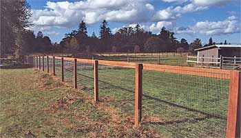 Like with the wood plus horse fence looks nice and no leaning through the strands and pulling it down