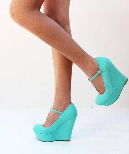 Turquoise Wedge Shoes | turquoise wedges preciousstone mar 15 2013