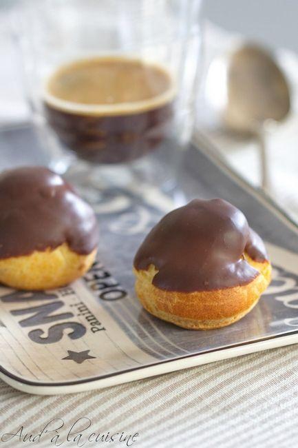 Choux caramel beurre salé et chocolat / aud' à la cuisine