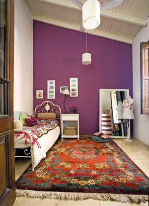 un mur violet