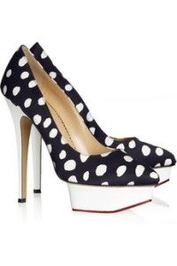 Polka dot shoes! <3