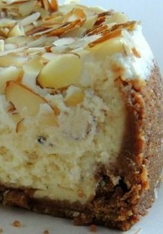White Chocolate Almond Amaretto Cheesecake Recipe