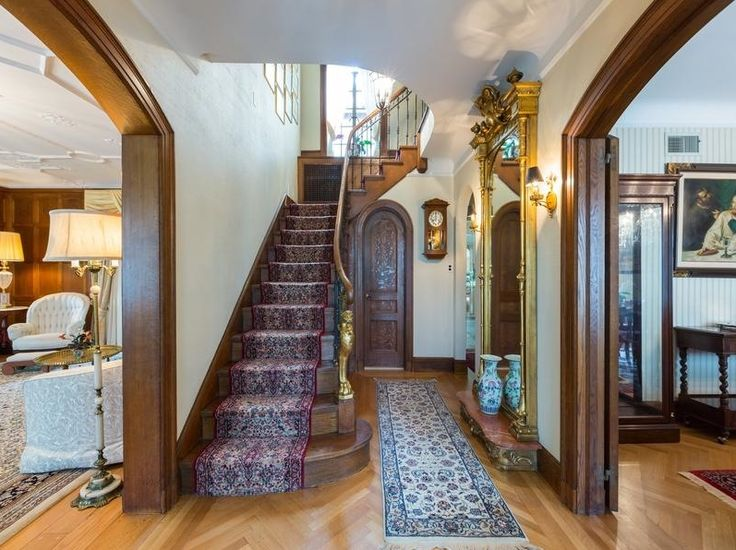 Interior foyer of a mid 1920's Spanish Colonial Revival Mediterranean style house.
