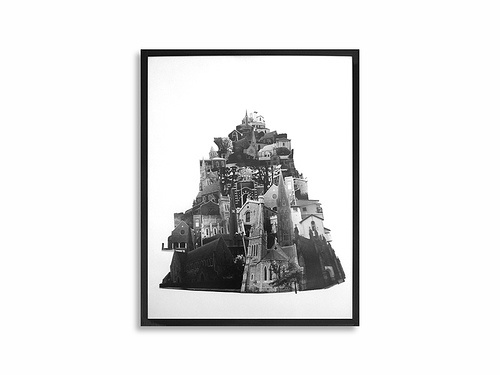 City of Saints - 2005, 20''x24'', Black and White Silver Print - photomontage
