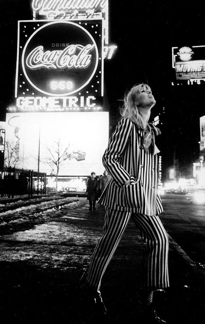 Nico in Times Square by Steve Schapiro, 1966