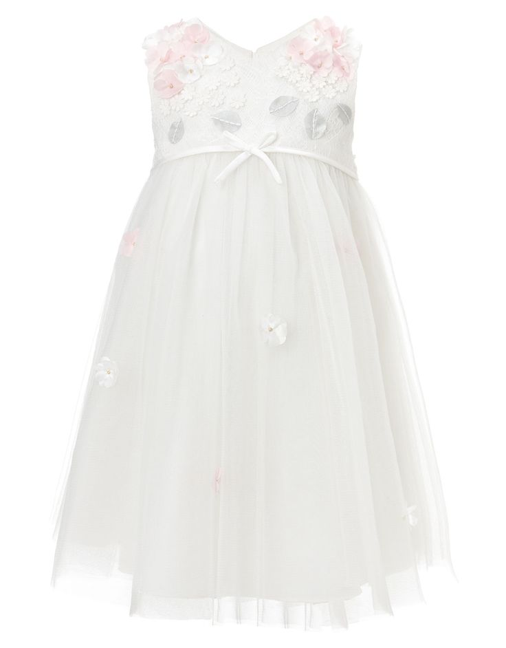 Baby Lilly Lace Dress | White | Monsoon