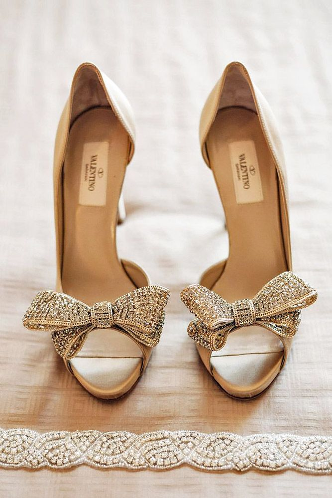 18 Most Wanted Wedding Shoes for Bride ❤ You have already chosen your wedding dress, make-up, maybe even hairstyle, so it's time to think about wedding shoes! See more: http://www.weddingforward.com/wedding-shoes/ #weddings #shoes