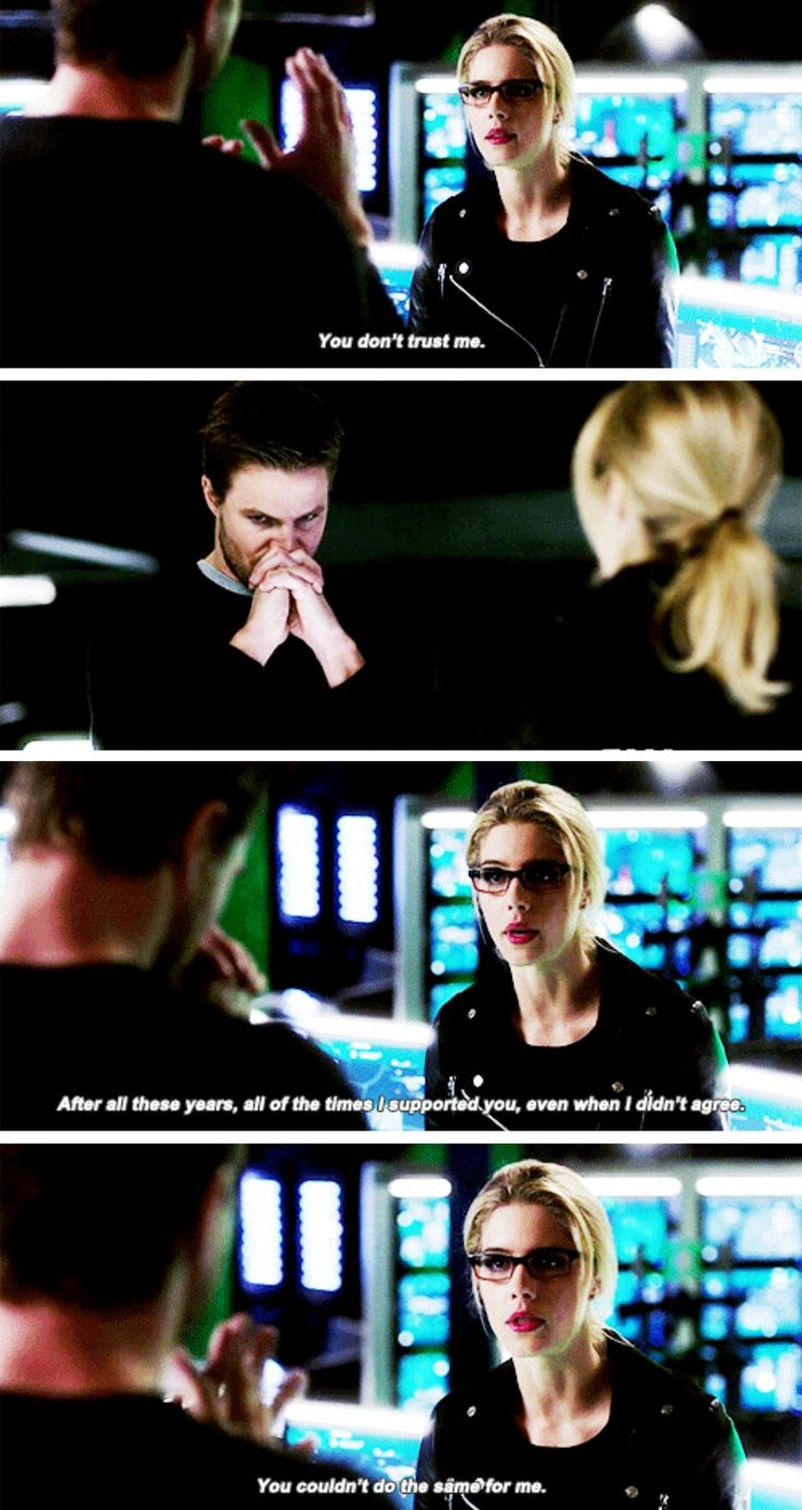 """#Arrow 5x19 """"Dangerous Liaisons"""" - """"You don't trust me. After all these years, all of the times I supported you, even when I didn't agree. You couldn't do the same for me"""" - #FelicitySmoak #OliverQueen"""
