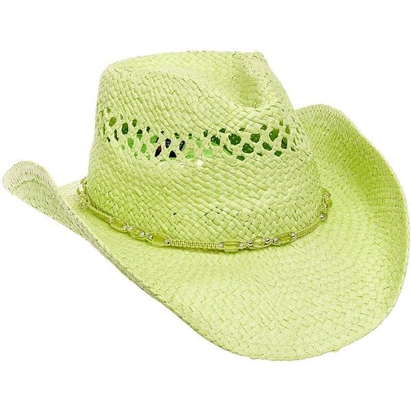 MG Womens Straw Outback Toyo Cowboy Hat ($14) ❤ liked on Polyvore featuring accessories, hats, cowgirl hats, western style hats, straw cowgirl hat, cowboy hat and western hats