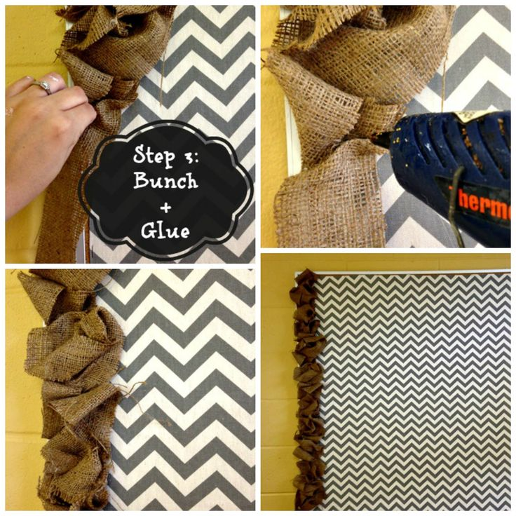 The Ashcraft Bunch: DIY Burlap Bulletin Board
