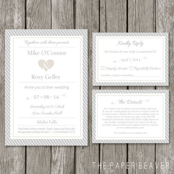 23 best the paper beaver wedding invitations images on pinterest diy printable wedding invitation template modern wedding invite card rsvp event details card stopboris Image collections