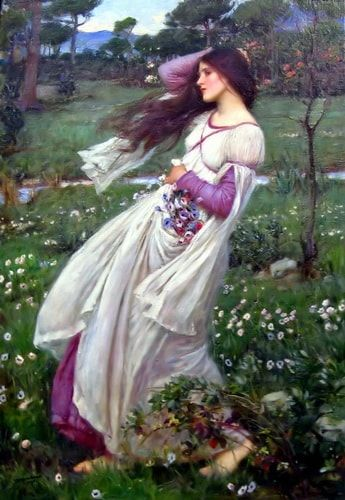 Windflowers John William Waterhouse