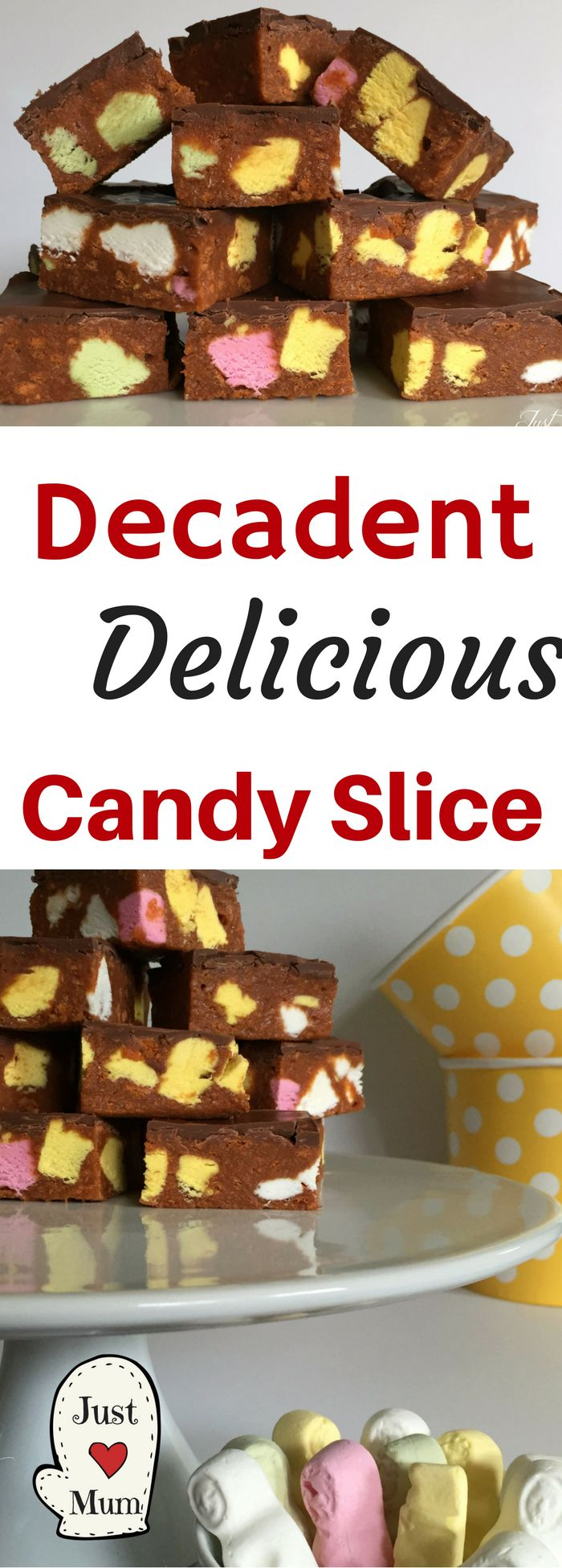This Candy Slice is absolutely delicious, simple and a great party treat
