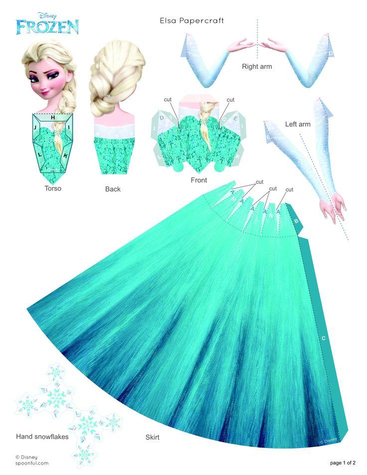 FROZEN Elsa Papercraft - Frozen day activity