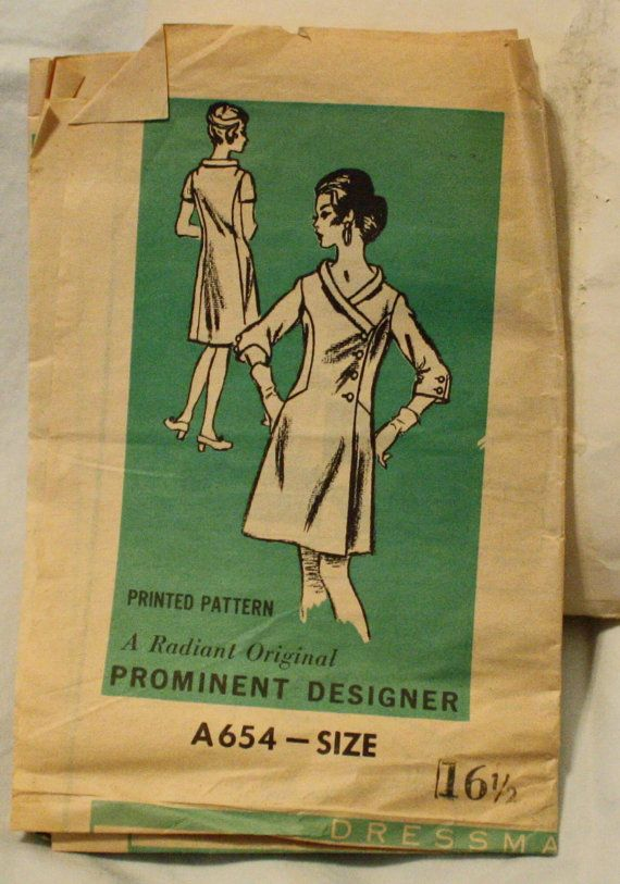 Prominent Designer A654  Vintage 1960s  Dress by EleanorMeriwether, $12.00