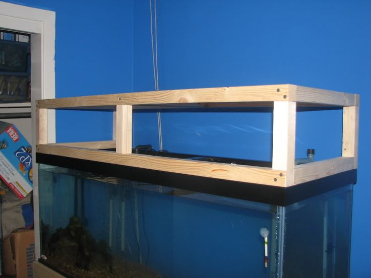 DIY Canopy - do most of you build the canopy to rest on top of tank & 10 best Aquarium Lighting images on Pinterest | Fish aquariums ...