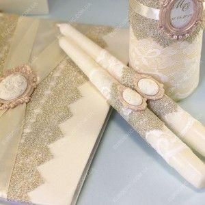Свечи семейный очаг Antique Gold на свадьбу